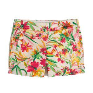 "J. Crew Tropical Floral Printed 5"" Shorts"